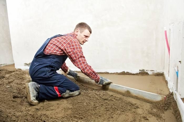 как выравнивать бетонный пол