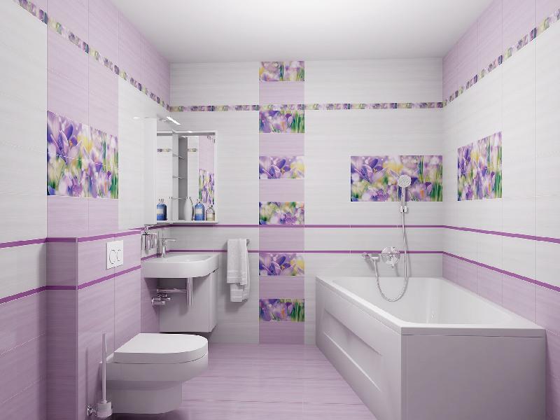 Керамическая плитка в в ванной