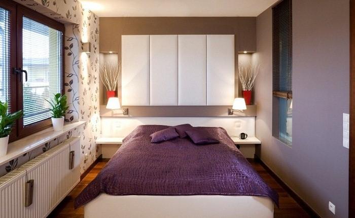 Расстановка мебели в узкой спальне