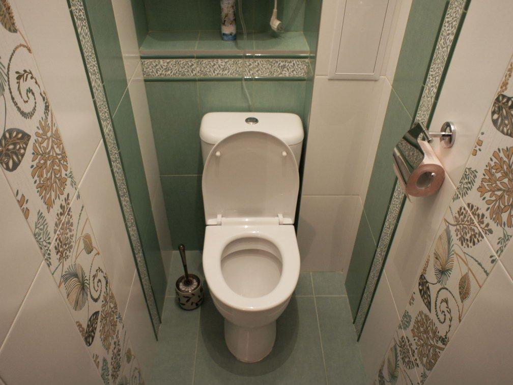 Оформление маленького туалета