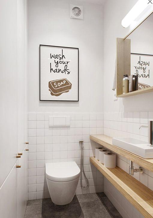 Оригинальное оформление маленького туалета
