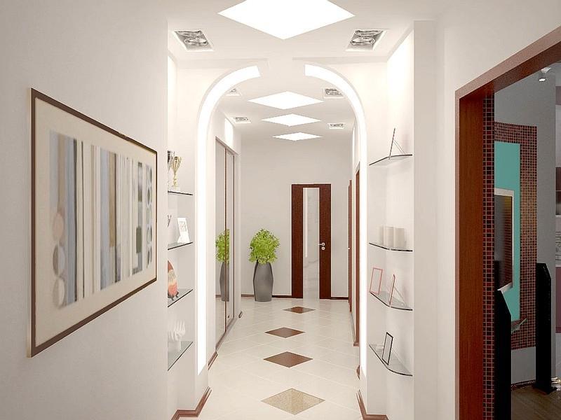 Специальный дизайн узкого коридора