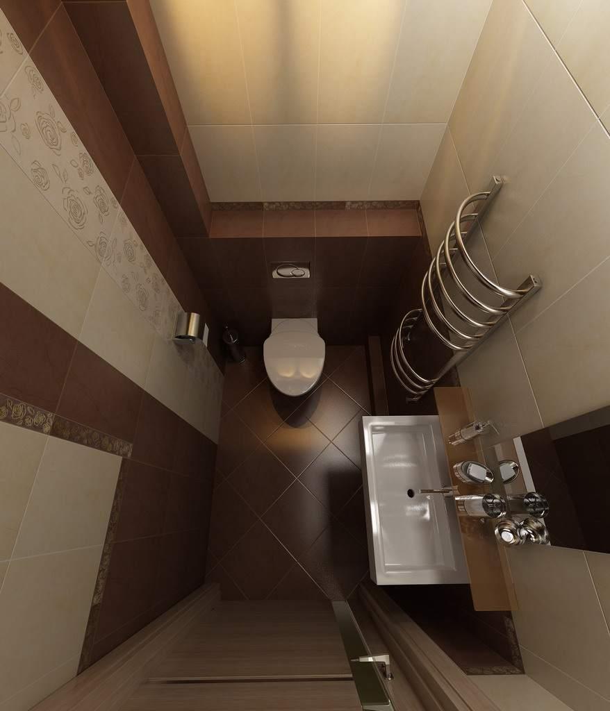 Темно-коричневые тона в отделке туалета