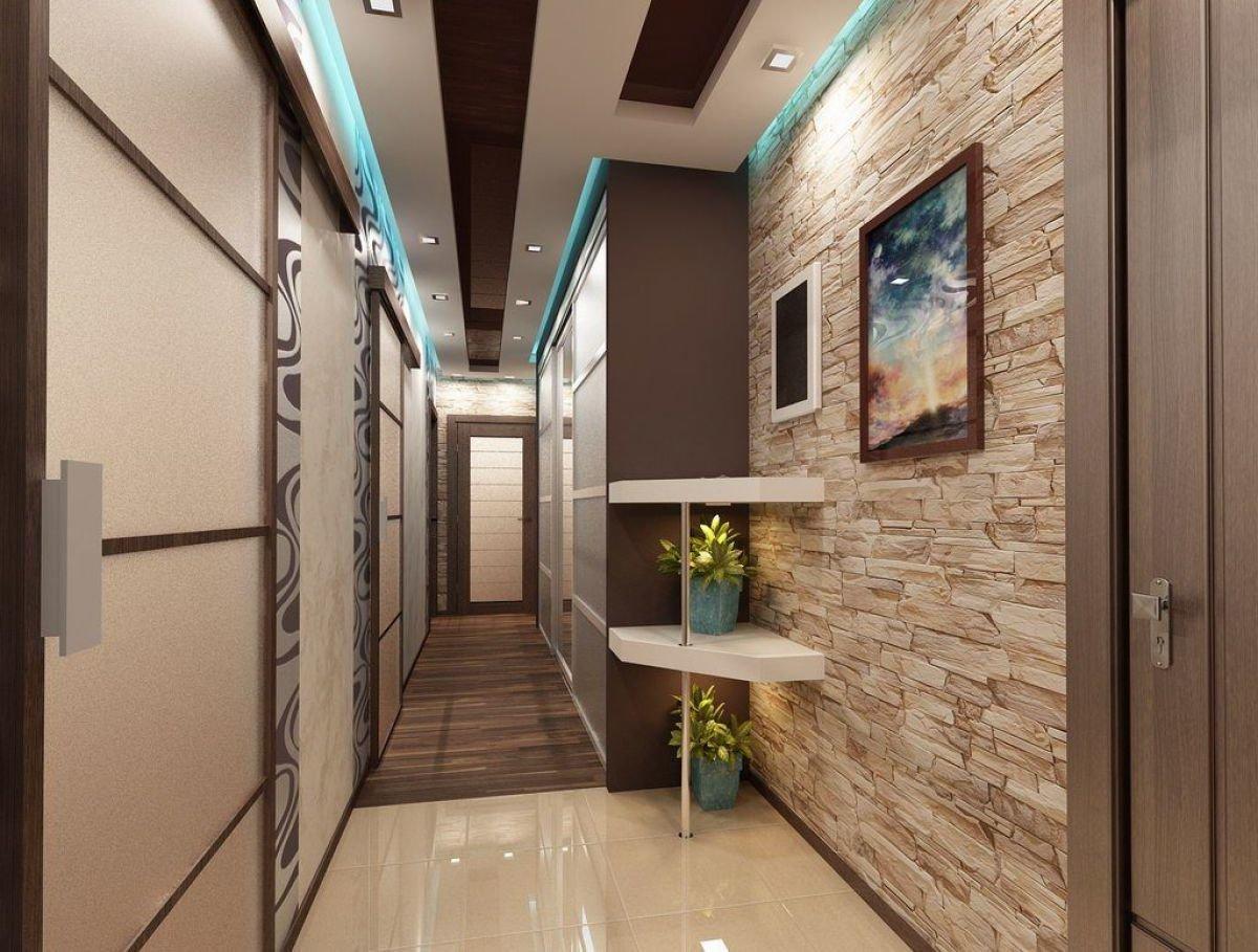 Особенности оформления узкого коридора