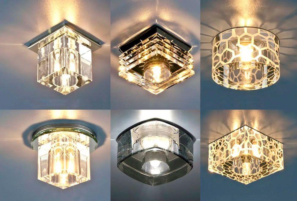 Накладные светильники на натяжном потолке