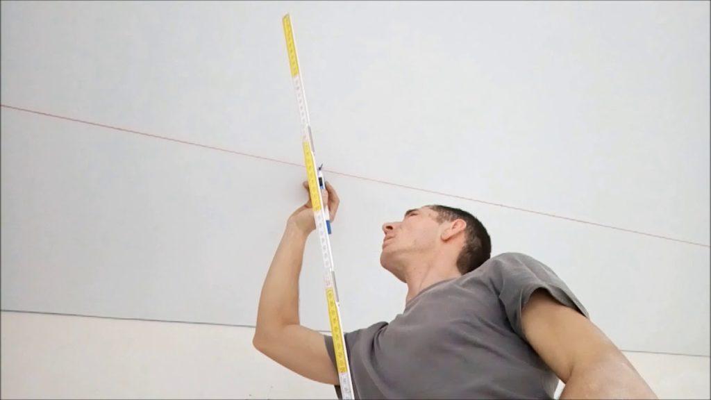 Перенос разметки для светилников на натяжной потолок