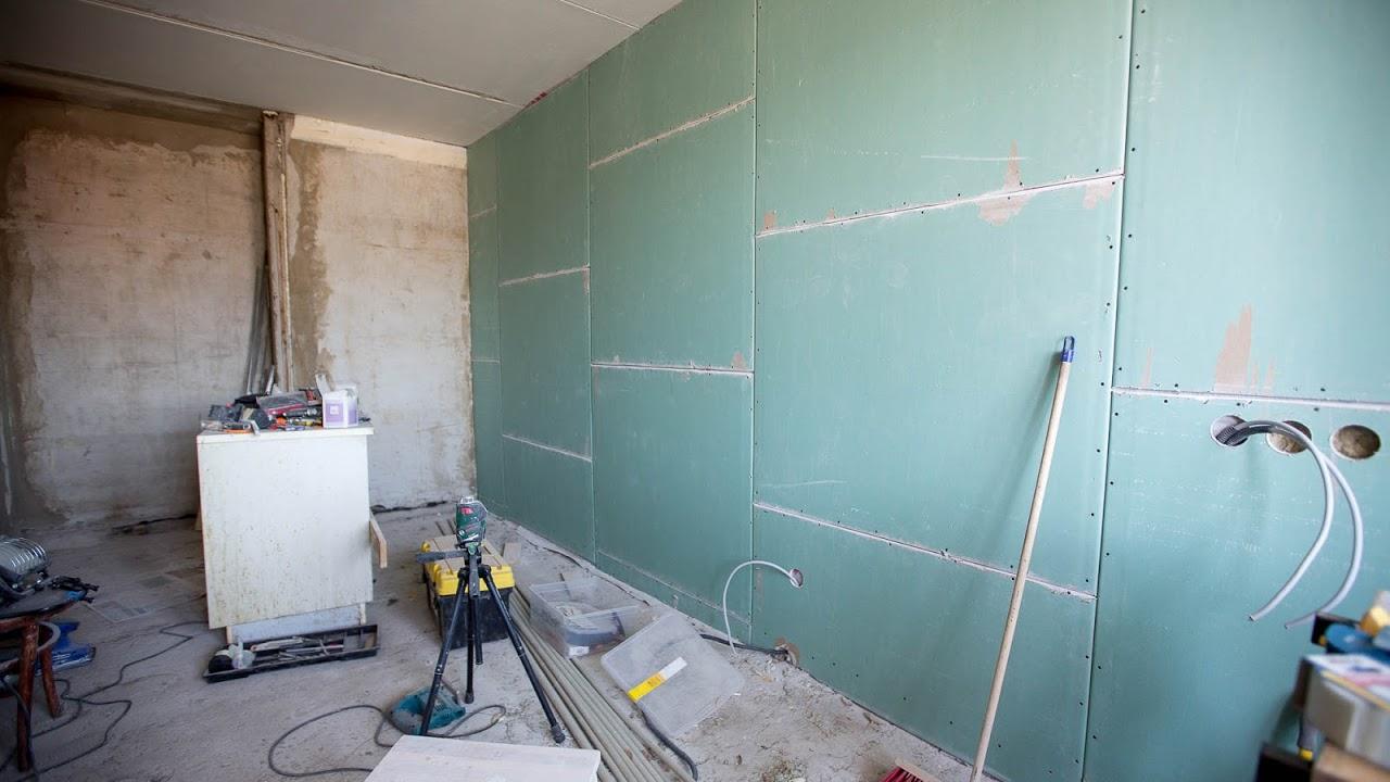 Отделка стен с использованием гипсокартона