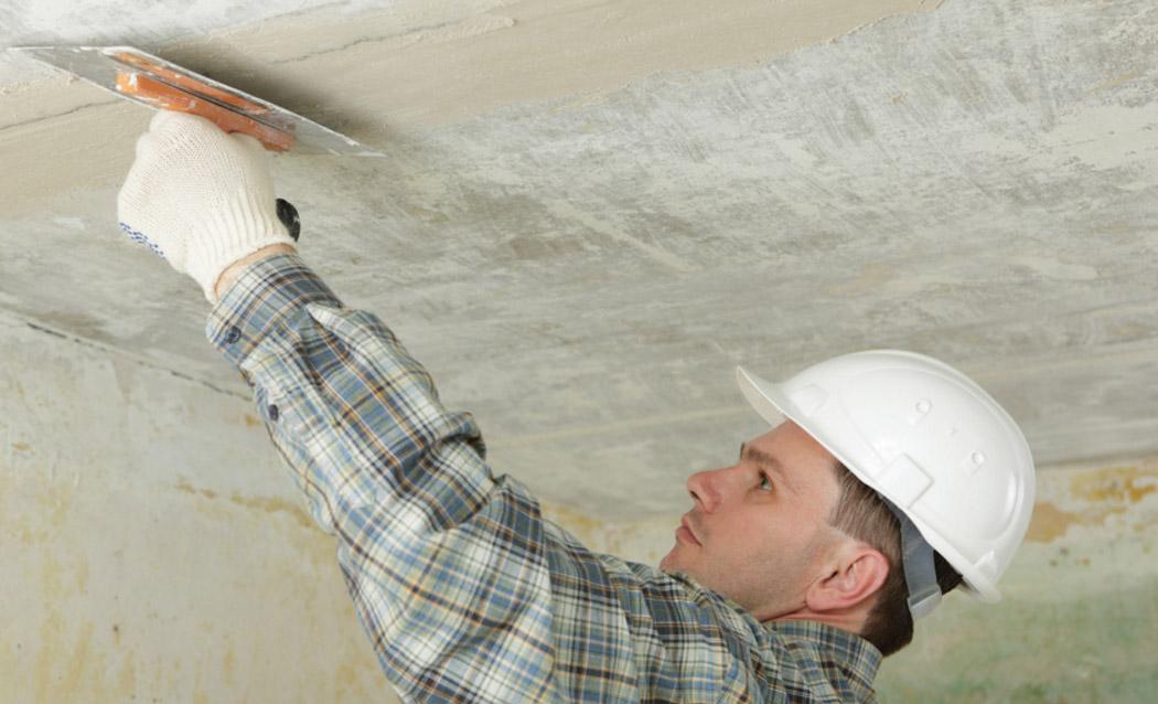 Шпаклевка щелей на потолке