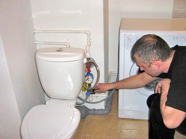 Подключение стиральной машины к унитазу