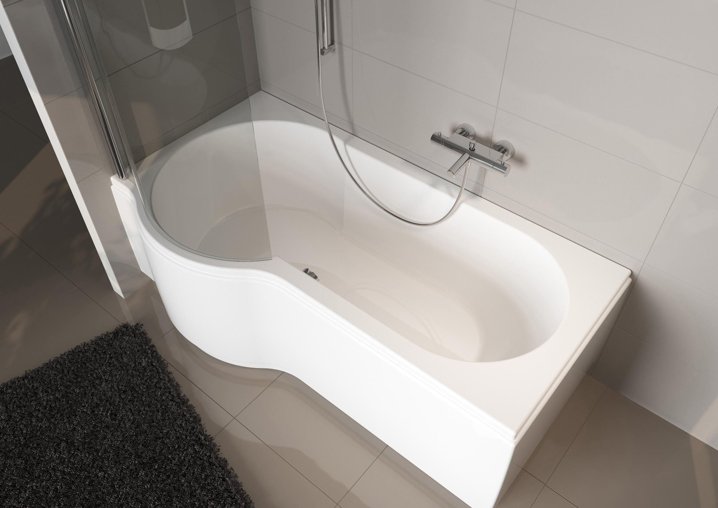 Ассимитричная акриловая ванна