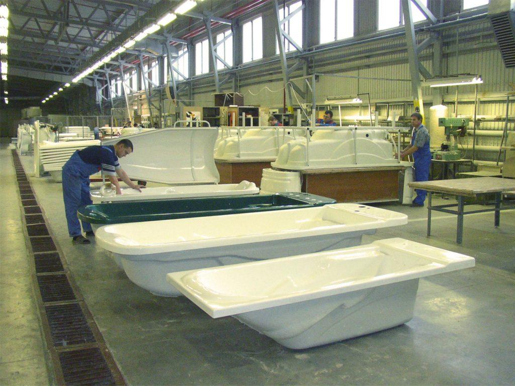 Изготовление акриловых ванн