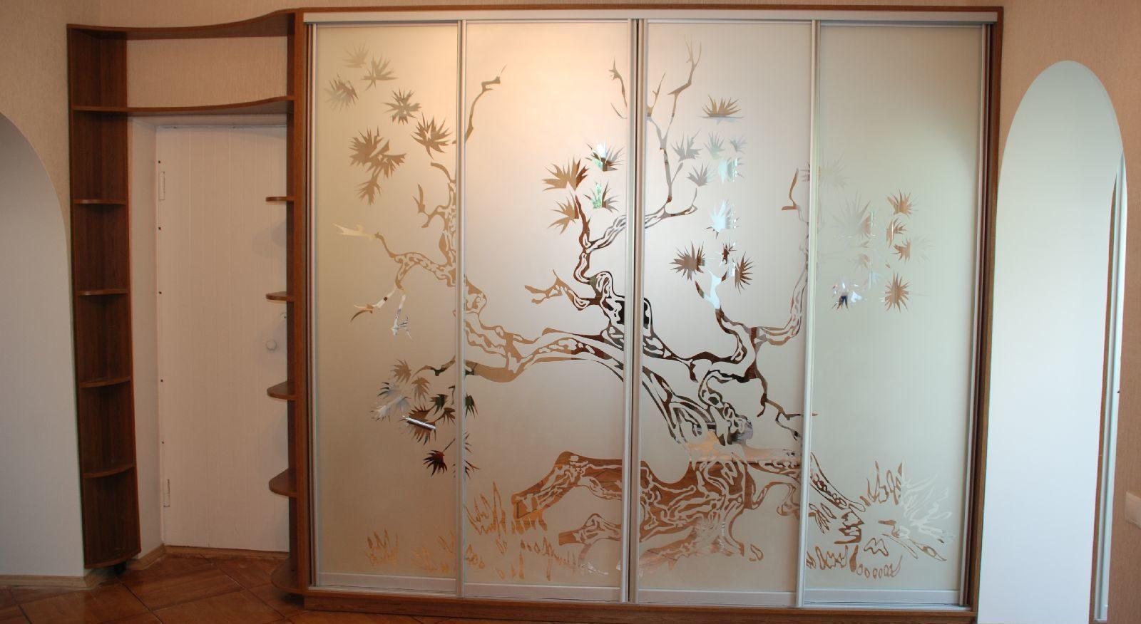 Декорирование дверей в гардеробной