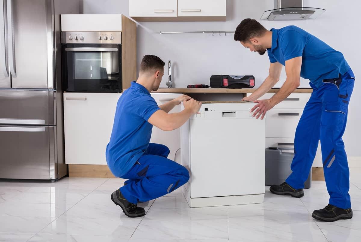 Выравнивание посудомоечной машины