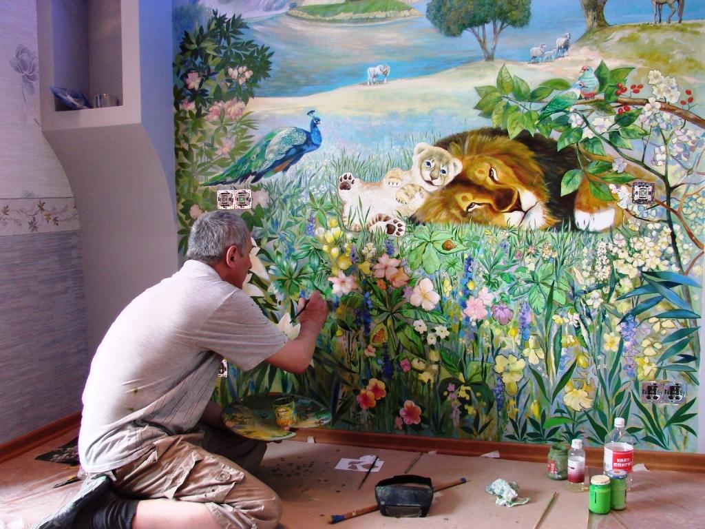 Картина на стене в детской комнате