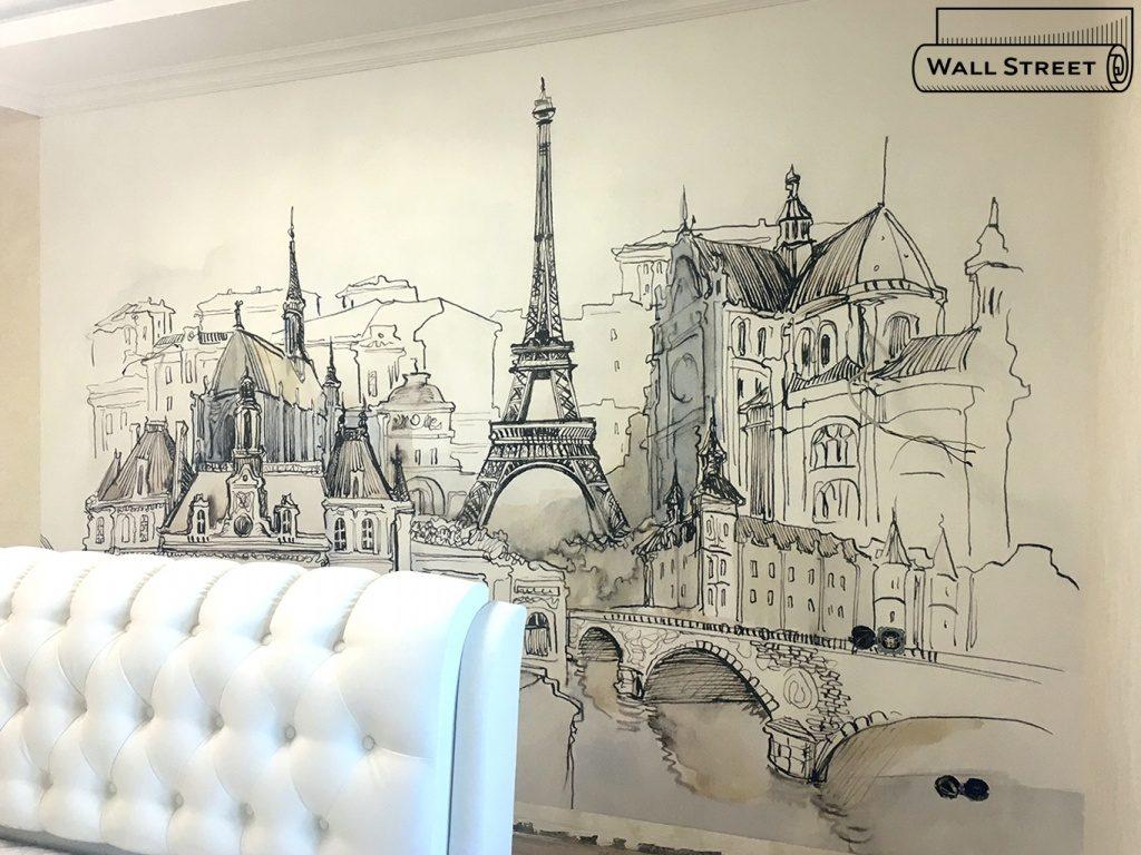 Оформление стен в квартире рисунками