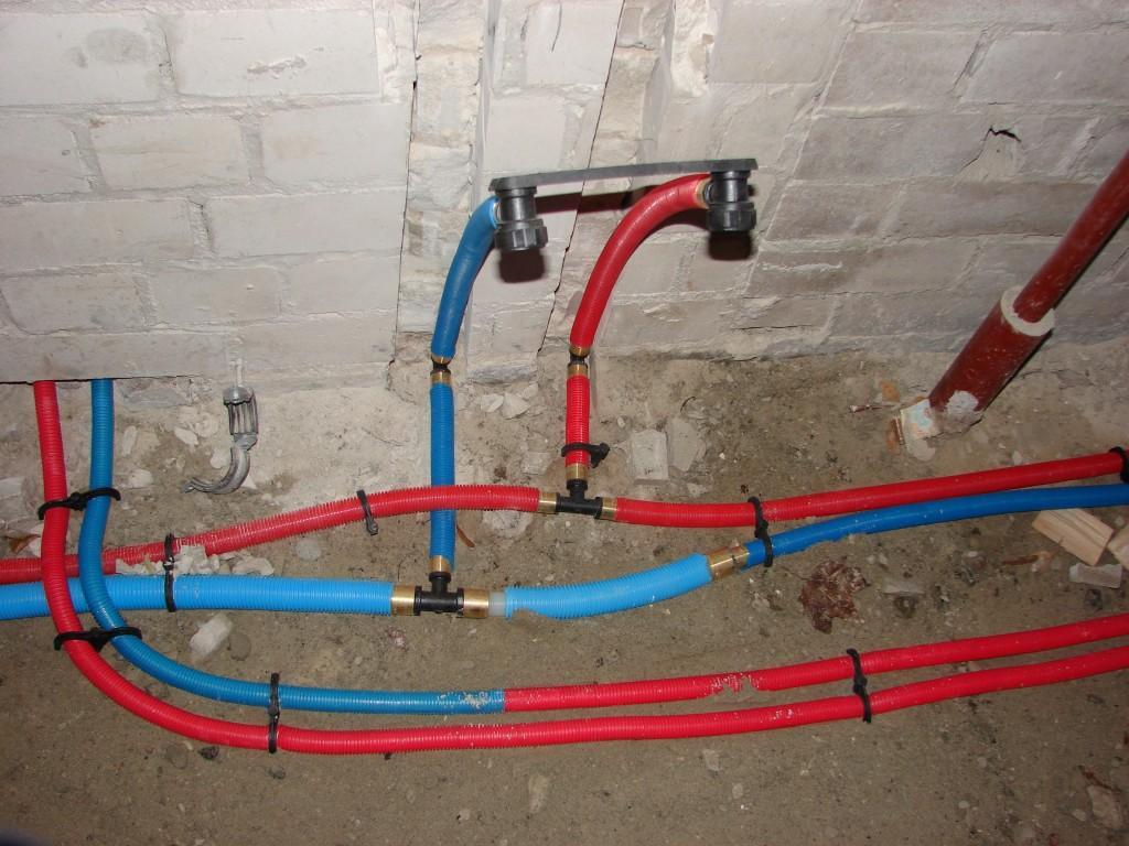 Тройниковая разводка водопроводных труб