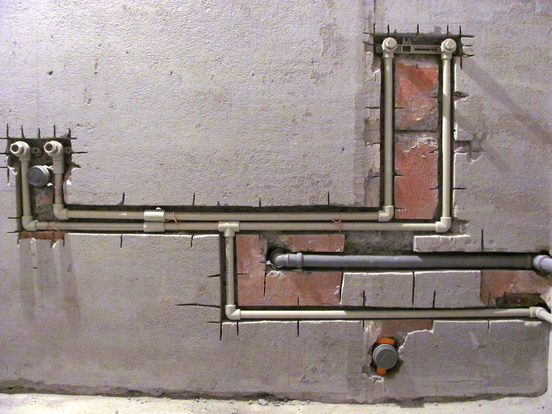 Скрытый монтаж водопроводных труб
