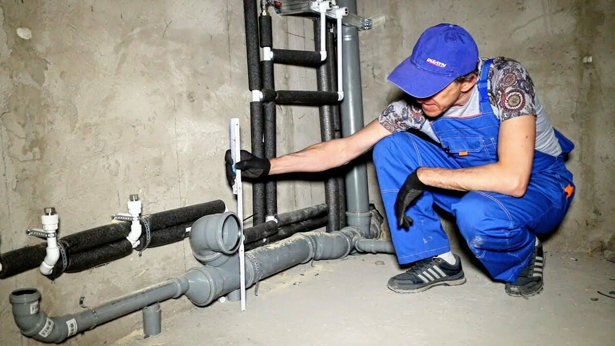 Этапы работ по монтажу водопроводных труб