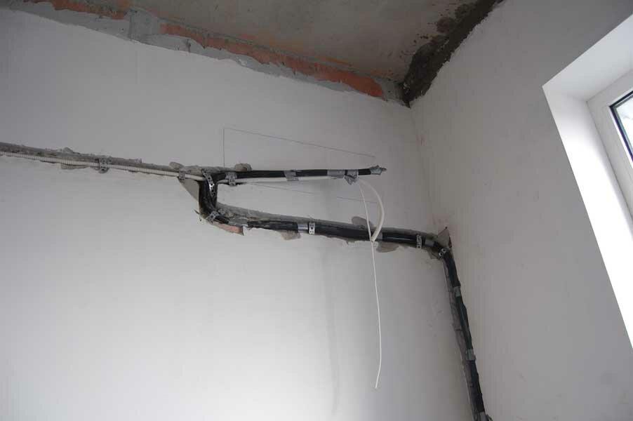 штробление стен под кондиционер